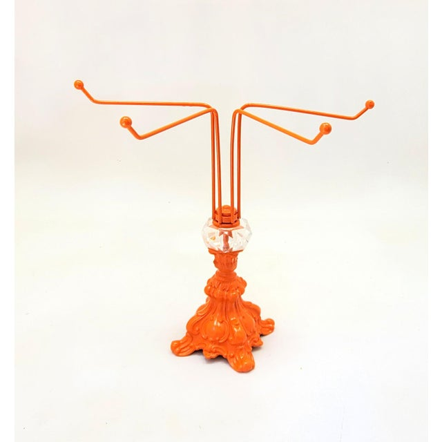 Dimensions Height: 11.5 Inches Description Orange Necklace Holder Hand Towel Rack Jewelry Storage Bracelet Ring Tree...