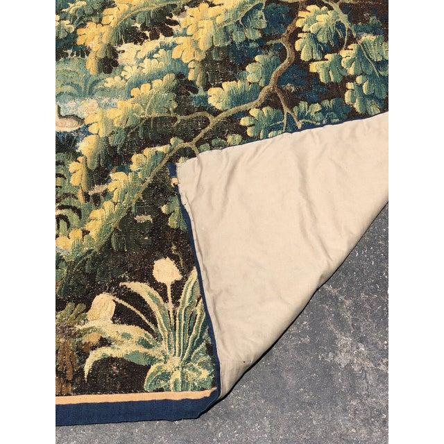 Blue Antique 17th C Flemish Landscape Tapestry For Sale - Image 8 of 9
