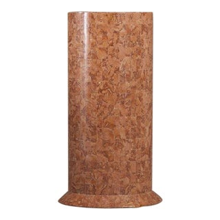 An Oval Stone Veneered Pedestal 1980s For Sale