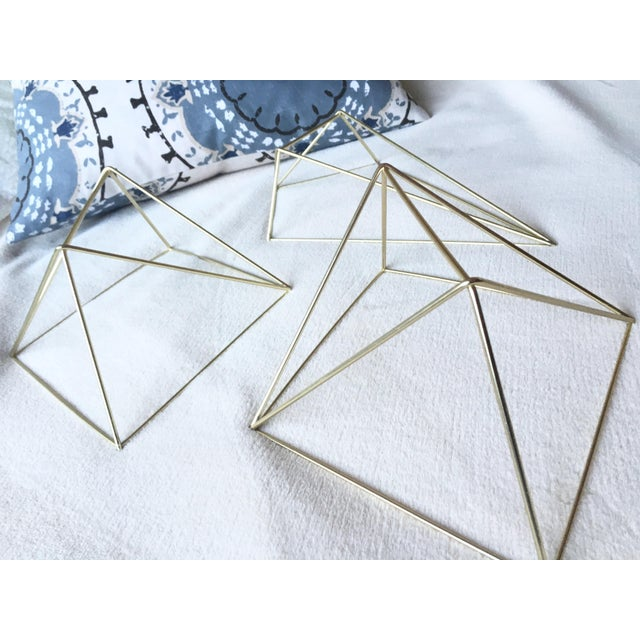 Metal Gold 3D Diamond Wall Hangings - Set of 3 - Image 3 of 6