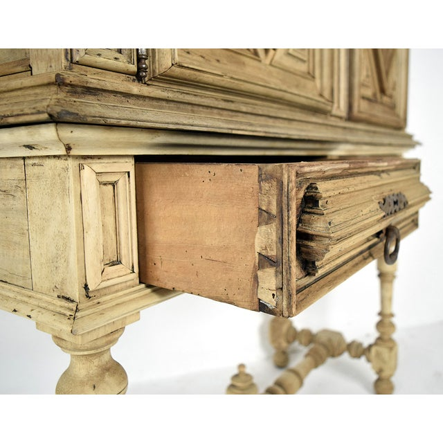 19th French Century Walnut Bleached Wood Cabinet - Image 8 of 9