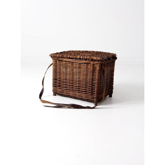 Antique Wicker Fishing Basket - Image 8 of 11