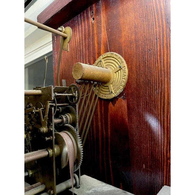 """American Antique Waterbury Grandfather Clock - """"801 Hall Chime Clock"""" Model For Sale - Image 3 of 13"""