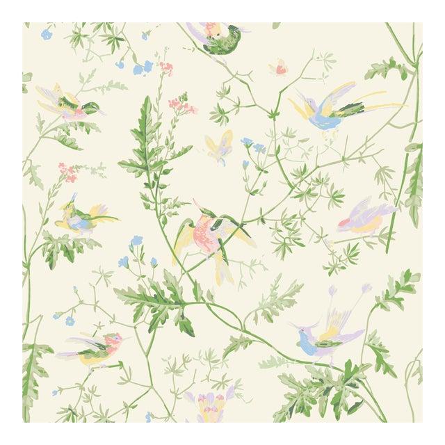Cream Background Silk Fabric- Sample For Sale
