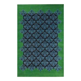 Modern Jonathan Saunders Green & Blue Nouveau Rug For Sale