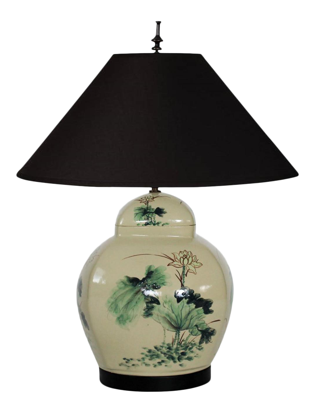 Merveilleux Vintage Asian Style Table Lamp By Chapman