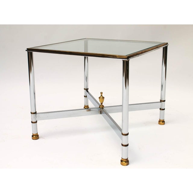Petite Brass & Steel Side Table - Image 6 of 8