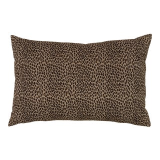 Velvet Schumacher Cheetah Print Pillow For Sale