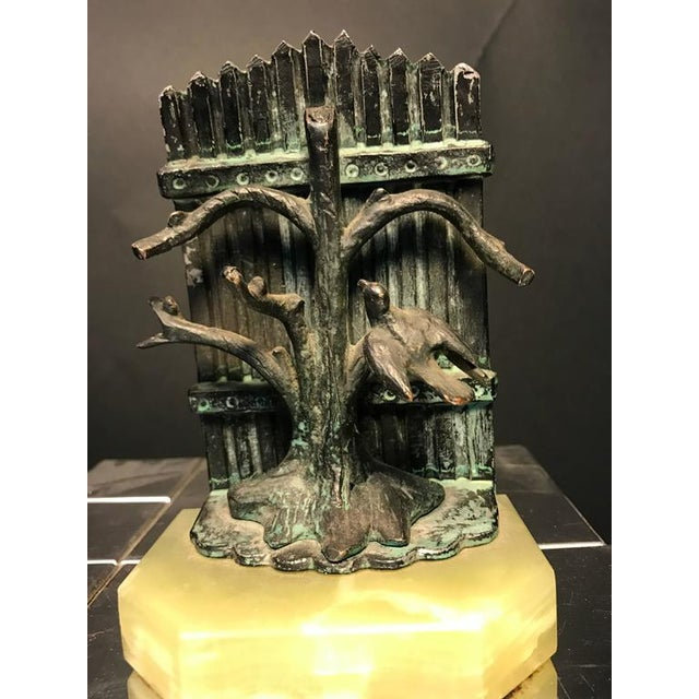 Silver Beautiful Pair of Bookends With Birds For Sale - Image 8 of 8