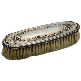 Sterling Silver Late 19th Century Victorian Clothes Brush For Sale