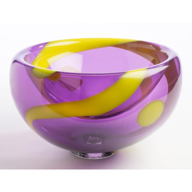 Hand Blown Bubble Glass Bowl - Image 2 of 3