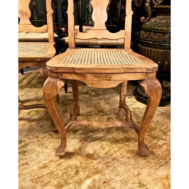 18th Century Swedish Baroque Side Chairs - a Pair For Sale - Image 4 of 7
