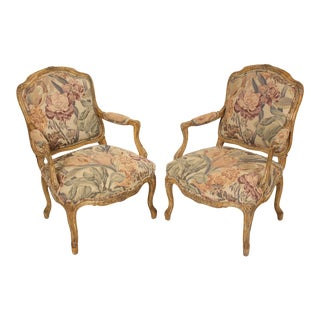 Rococo Louis XV Style Armchairs - a Pair For Sale