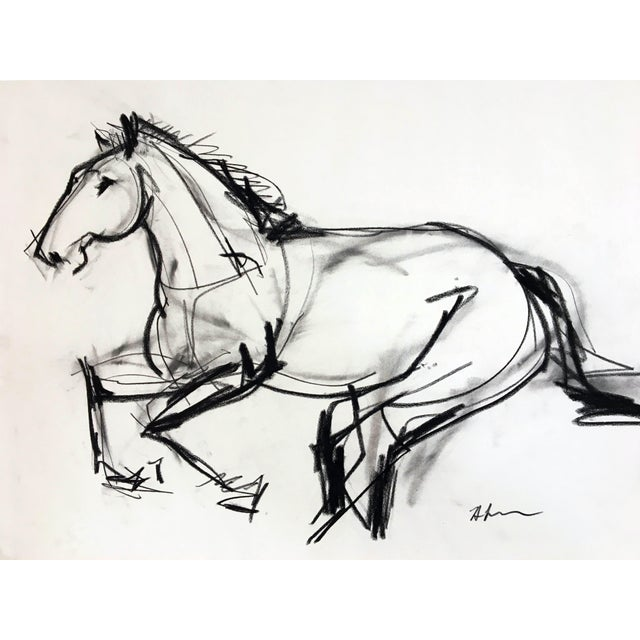 Abstract Horse Drawing #5 by Heidi Lanino For Sale - Image 3 of 3