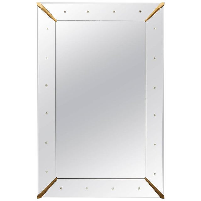 Large Rectangular Venetian Dotted Mirror For Sale