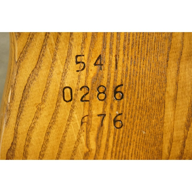 Late 20th Century Vintage S. Bent Bros. Grand Rapids Solid Oak Country Style Dining Side Chair For Sale - Image 10 of 11