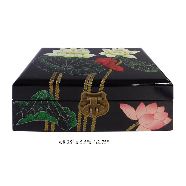 Chinese Oriental Lacquered Jewelry Box - Image 7 of 7
