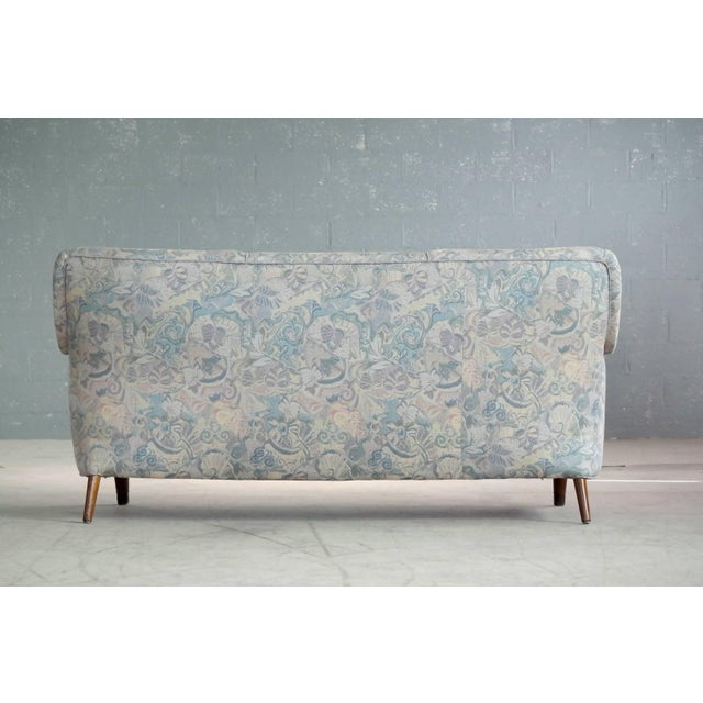 Danish Midcentury Sofa With Teak Armrests For Sale In New York - Image 6 of 10