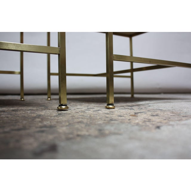 Paul McCobb Travertine and Brass Occasional Tables For Sale - Image 11 of 13