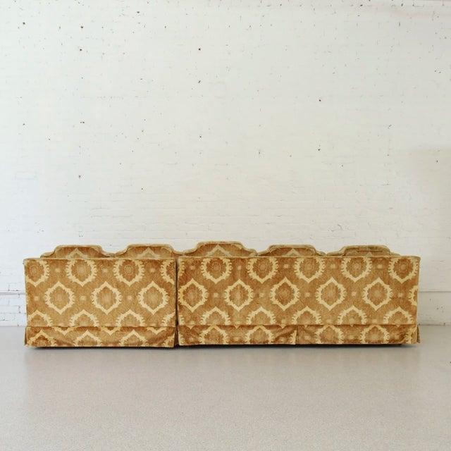 Textile 1970s Vintage Damask Two-Piece Velvet Sofa For Sale - Image 7 of 10