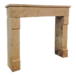 Conservative Antique Limestone Mantel