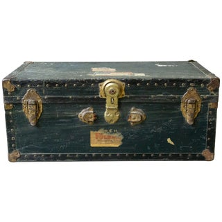 1940s American Steamer Trunk For Sale