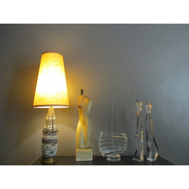 Brass Atomic Spoke Fat Glazed Drip MCM Lamp - Image 10 of 10