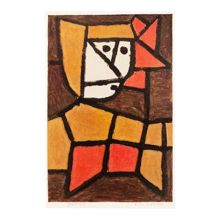 "1958 Paul Klee ""Woman in Native Costume"", First English Edition Lithograph For Sale"