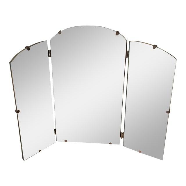 Art Deco Tri-Fold Vanity Mirror For Sale