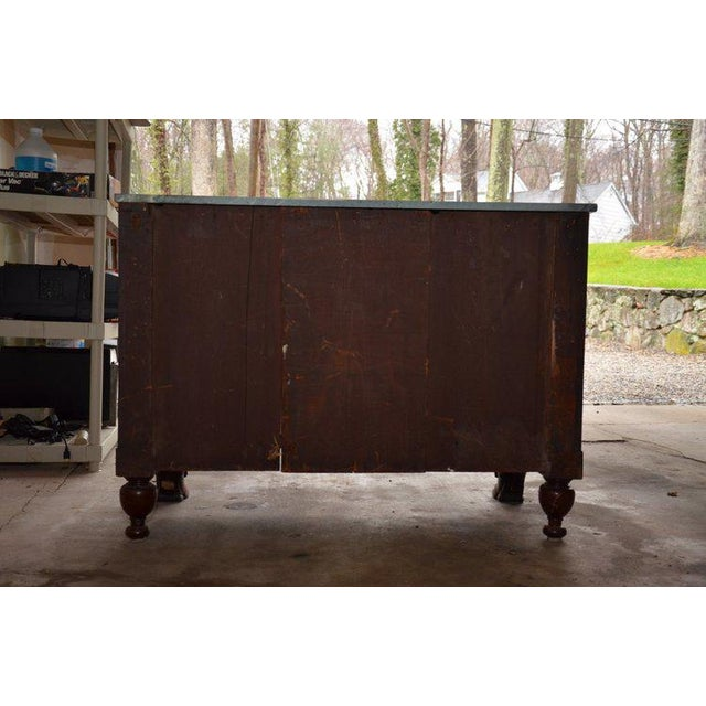 Brown Antique French Style Claw Foot Marble Top Commode For Sale - Image 8 of 8