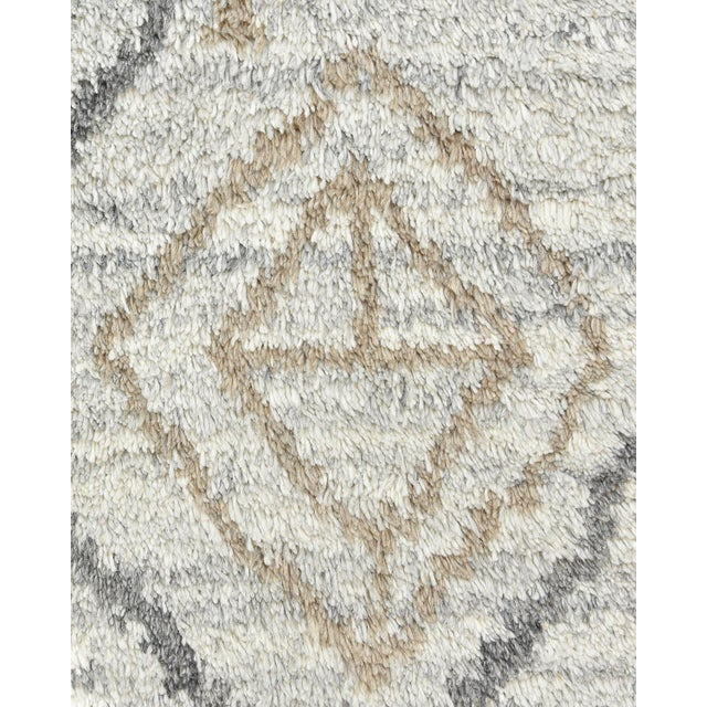 Moroccan Clover Handmade Area Rug - 8 X 10 For Sale - Image 3 of 9