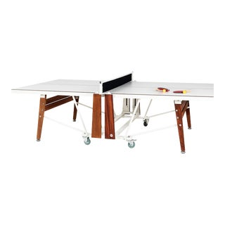 RS Barcelona Folding Ping Pong Table, White For Sale