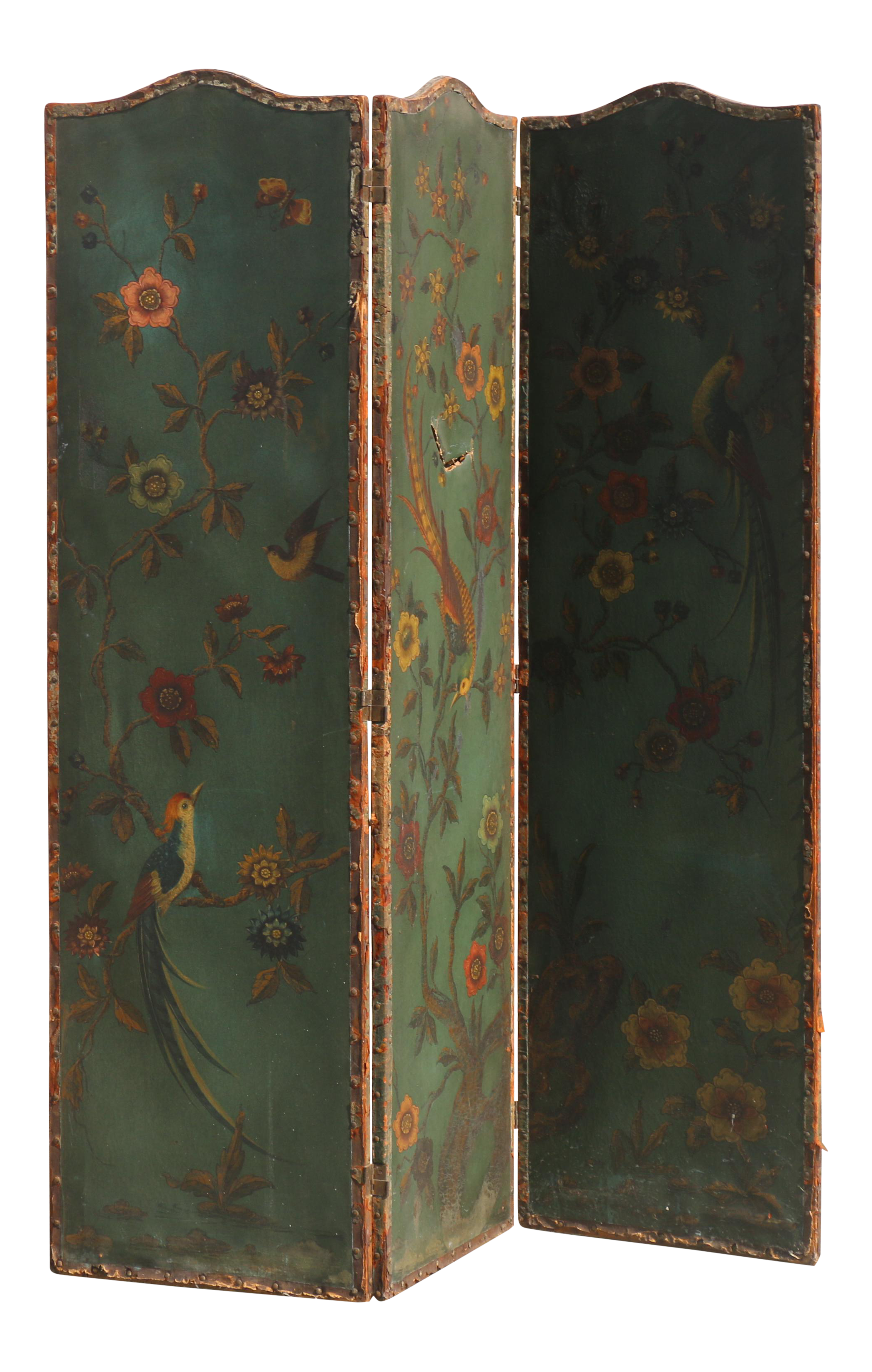 1900s Hand Painted French Room Divider Chairish