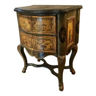 """17th Century/18th Century Italian Rococo """"Lacca Comodino"""" Commode For Sale"""