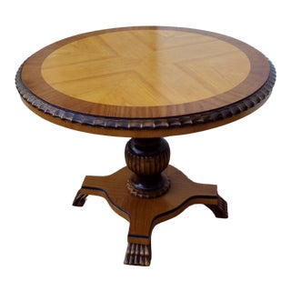 Swedish Art Deco Round Pedestal End Table For Sale