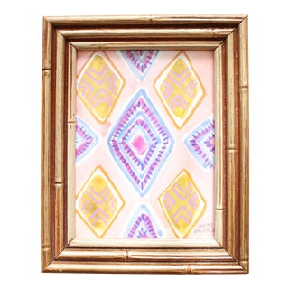 Modern Framed Original Watercolor Painting For Sale