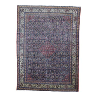Antique Persian Mahal Wool Rug - 8′5″ × 11′6″ For Sale