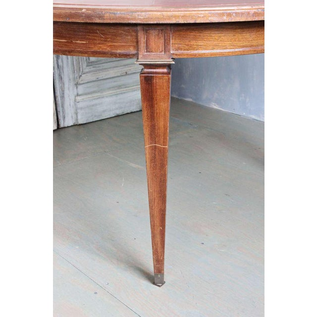 Art Deco French 1940s Mahogany Card Table For Sale - Image 3 of 8