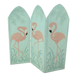 1980's Deco Flamingo Room Divider For Sale