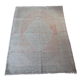 Turkish Wool Rug & Cotton Carpet - 4′3″ × 6′ For Sale
