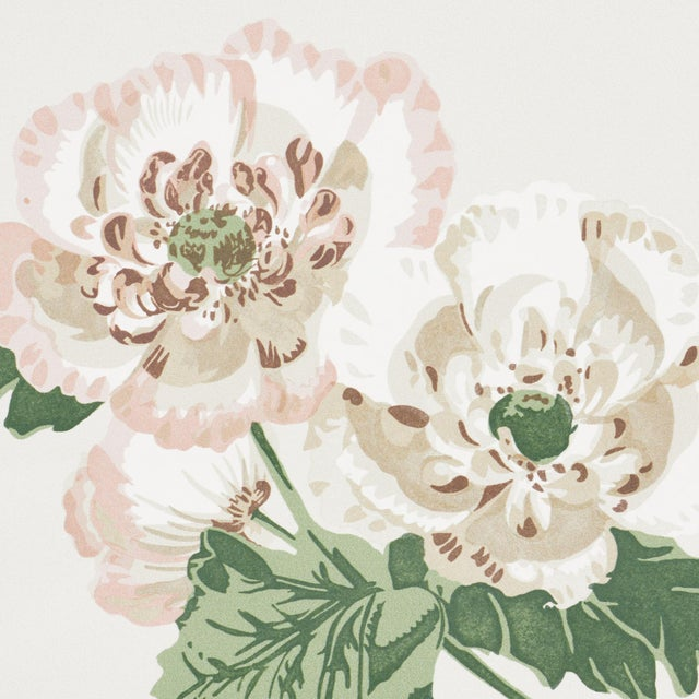 Contemporary Sample - Schumacher x Veere Grenney Betty Wallpaper in Quiet Pink For Sale - Image 3 of 5