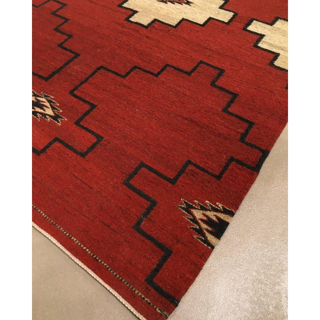 """Native American Navajo Inspired Rug-4' X 6'1"""" For Sale - Image 3 of 6"""