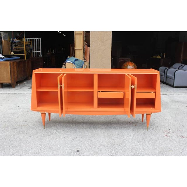 Art Deco Modern Orange Sideboard - Image 8 of 10