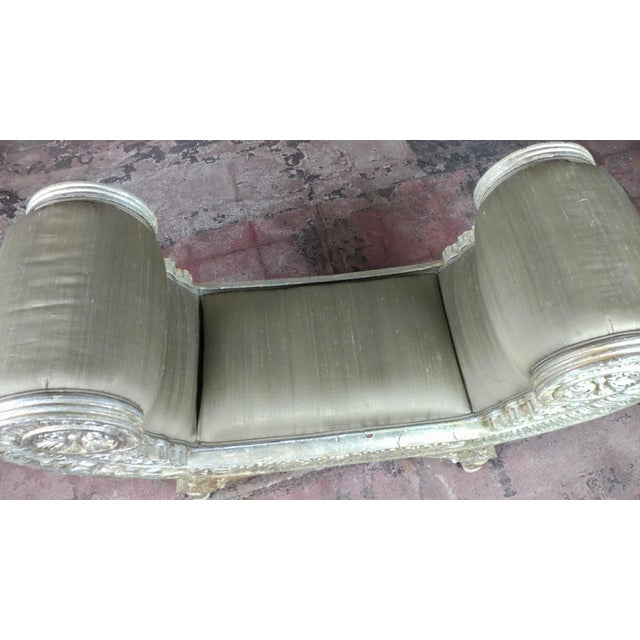 Silver Gilt & Upholstery Vintage Bed or Window Bench For Sale - Image 4 of 10