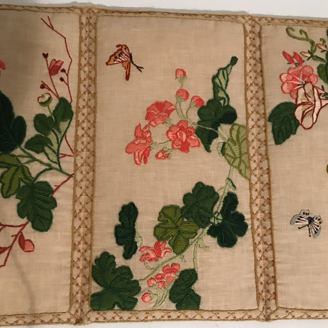 Small Floral Crewelwork Screen For Sale - Image 4 of 13
