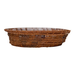 Antique Native American Style Loose Woven Basket For Sale