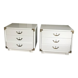 Mid-Century Lacquered Drexel Accolade Nightstands - A Pair For Sale