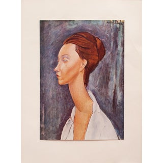 A. Modigliani, First English Edition Lithograph After Portrait of Lunia Czechowska For Sale