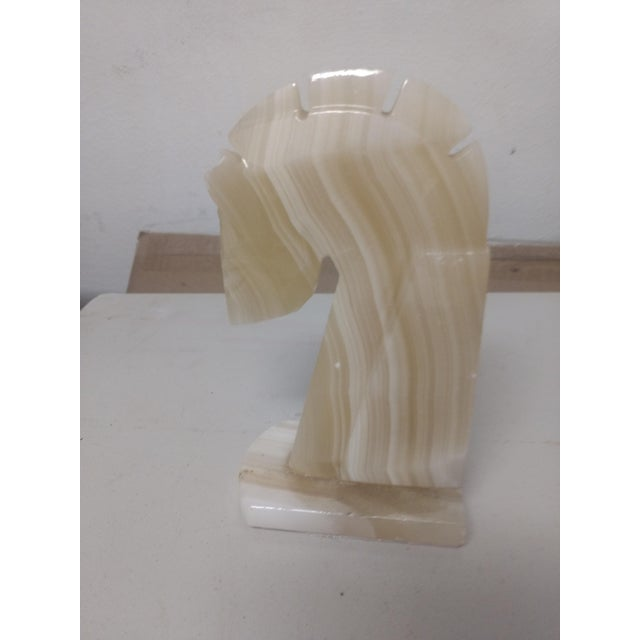 Marble Horse Head Statue For Sale - Image 5 of 5