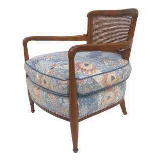 Vintage Cane Back Club Chair For Sale